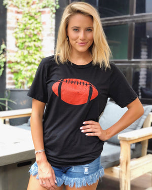 Football – The Football Tee – Black/Red