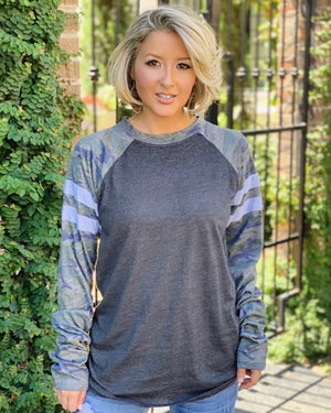 Top Seller: Unisex Camo Sleeve Long-Sleeve Jersey Tee