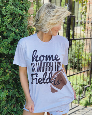 Comfy Football Home Is Where The Field Is® Basic Tee