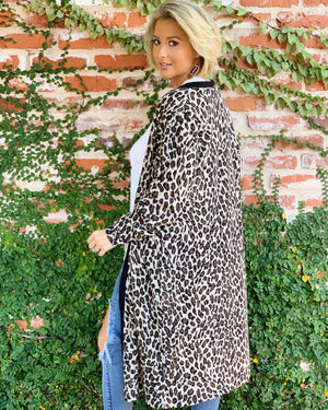 Soft & Stretchy Leopard Long Cardigan