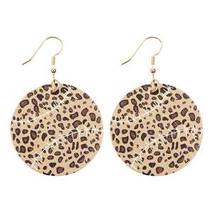 Leopard Baseball/Softball Earrings