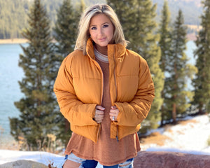 Spice Super Soft Cropped Puffer Jacket