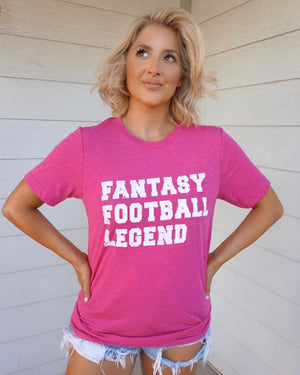 Bright Pink Fantasy Football Legend Tee