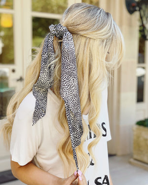 Scarf Scrunchie (Animal Black & White Dots)