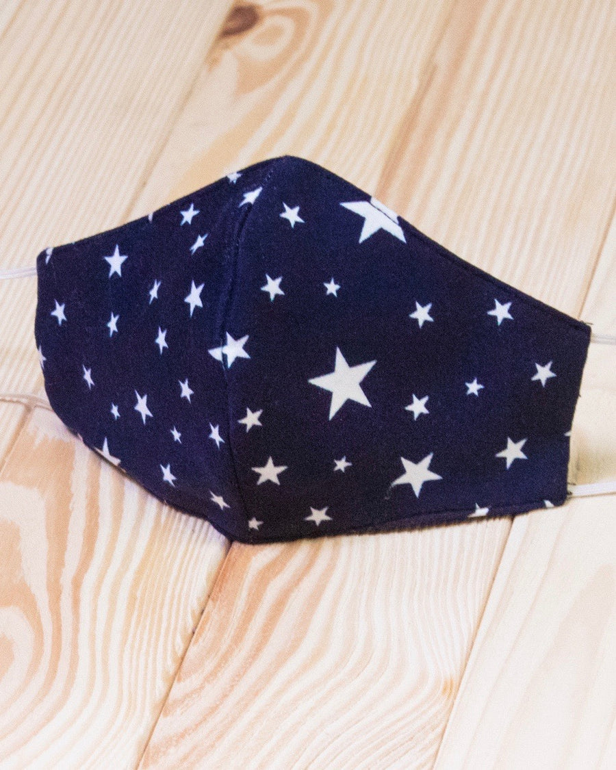 JJ - Navy Star Daily Face Cover With Filter Slot (Pre-Order Ships Approx. 5/20)