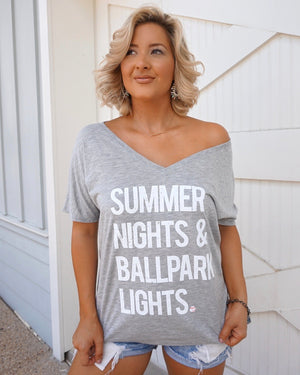 Summer Nights & Ballpark Lights™ Slouchy Tee