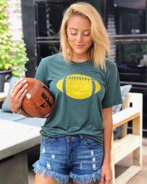 Football – The Football Tee – Green/Gold