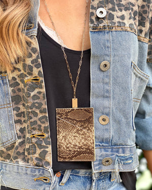Bronze Snake Wallet Necklace