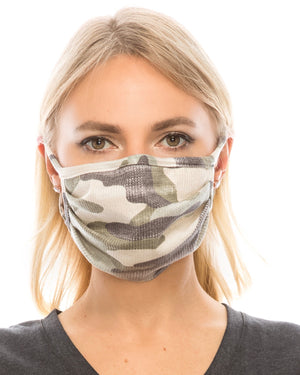 Vintage Camo Double-Layer Daily Face Mask