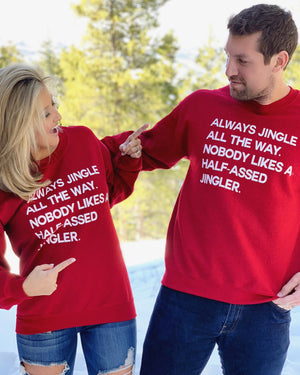 Always Jingle All The Way Unisex Red Fleece - Live Love Gameday®
