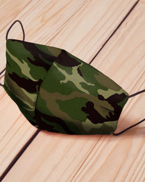 Camo Cotton Fitted Daily Face Cover (Pre-Order Due To High Demand)