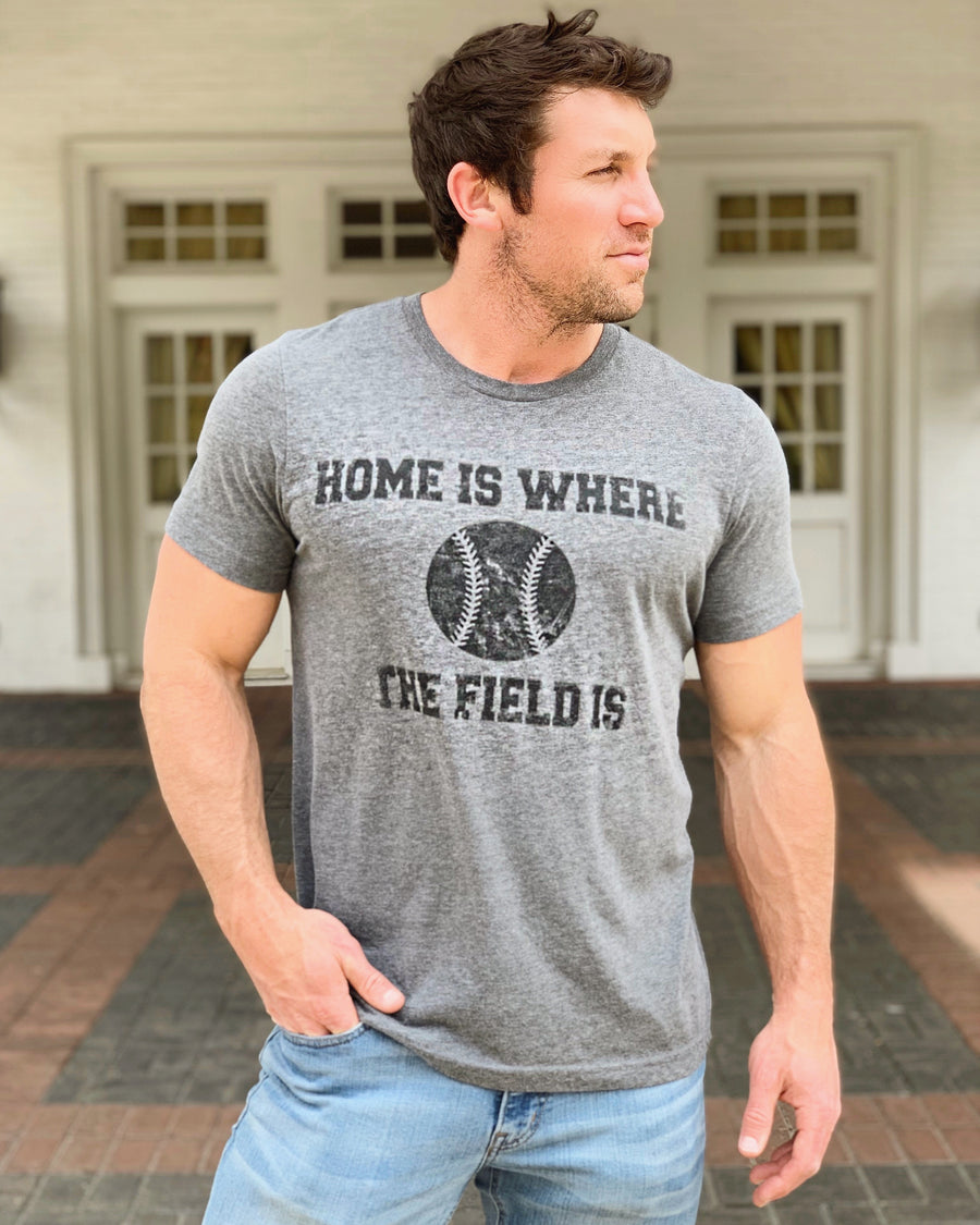 Home Is Where The Field Is® – Unisex Baseball Tee