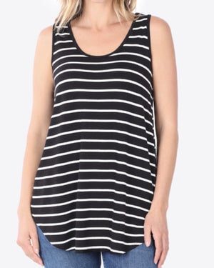 Black Striped Tank (S-3XL)