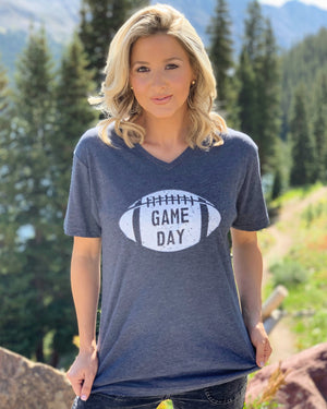 Football – Navy GAME DAY – V-Neck Tee
