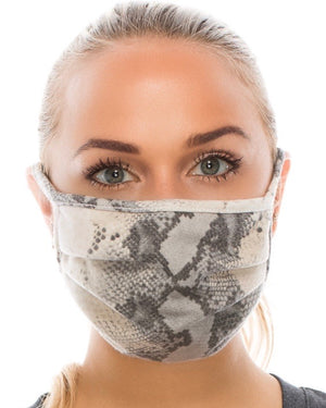Y - Gray Snake Double-Layer Daily Face Mask (Pre-Order Ships Approx. 5/20)