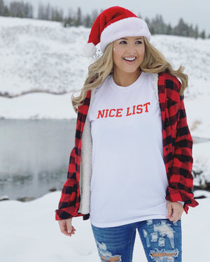 Naughty List & Nice List Unisex Long-Sleeve Tees