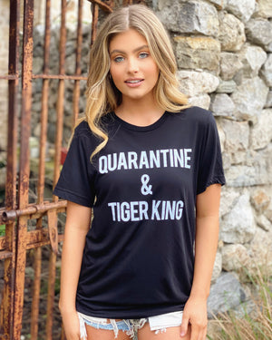 Quarantine & Tiger King Viscose Unisex Tee