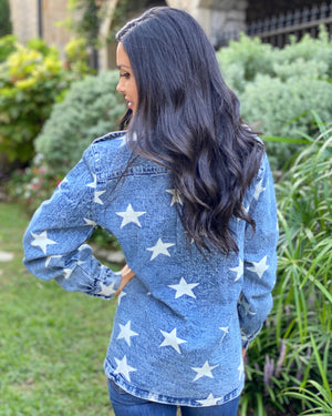 Star Denim-Washed Jacket