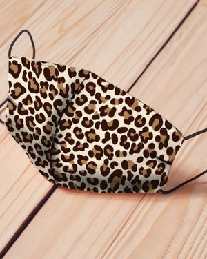 Bold Leopard Cotton Fitted Daily Face Cover