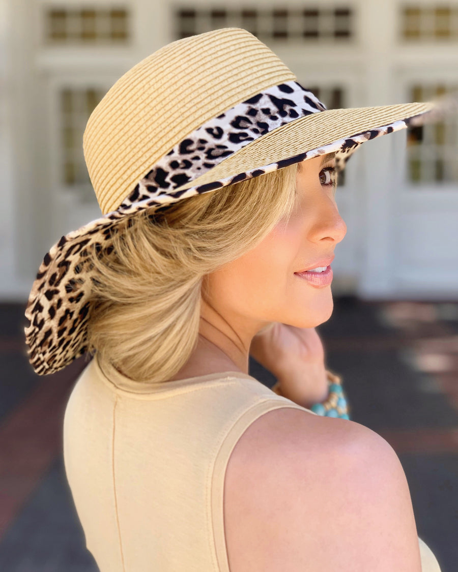 Leopard Wide Brim Hat