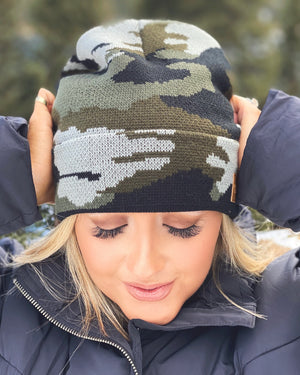 Basic Camo Fleece-Lined Beanie