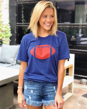 Football – The Football Tee – Blue/Red