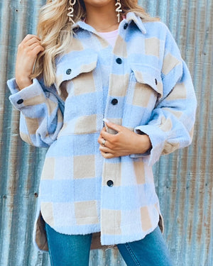 Lavender Plaid Shacket