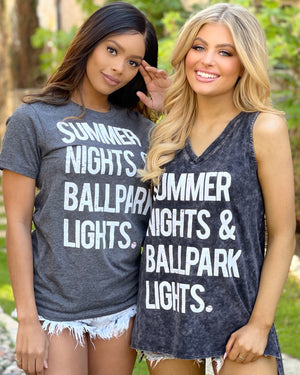 Summer Nights & Ballpark Lights Super Soft Tee