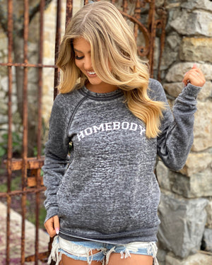 Homebody Acid-Washed Cozy Fleece Sweatshirt