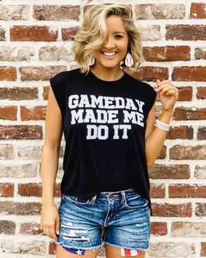 Game Day Made Me Do It™ – Flowy Muscle Tank