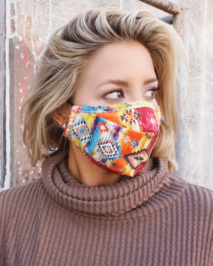 Multicolor Aztec Daily Face Cover