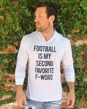 Sale – Football Is My Second Favorite F-Word – Long-Sleeve Unisex Lightweight Hoodie