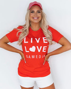 Live Love Gameday® Bright Red Tee