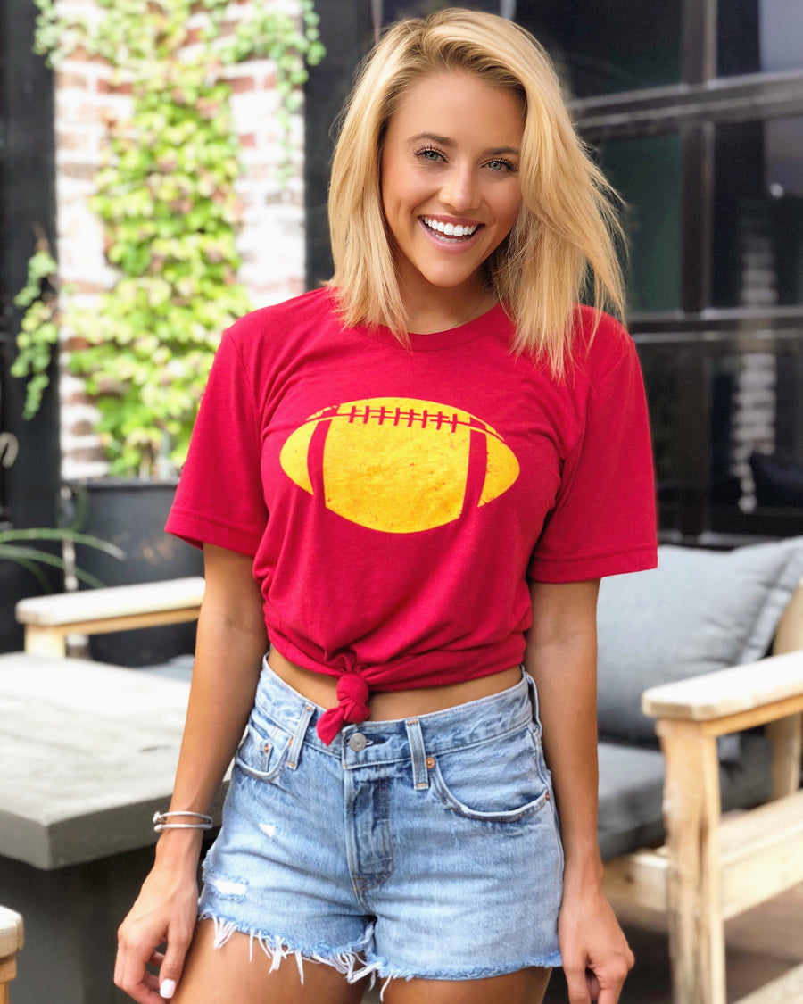 Football – The Football Tee – Red/Gold