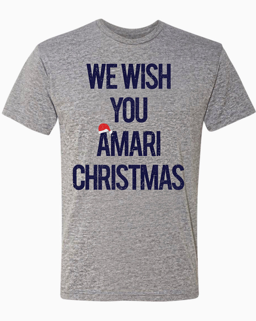 "We Wish You ""Amari"" Christmas Game Day Unisex Tee"