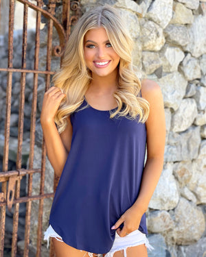 Modal Super Soft Must-Have Navy Tank