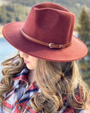 Cozy Rust Winter Fedora