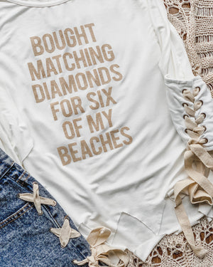 Bought Matching Diamonds For Six Of My Beaches Cut Tank With Vintage Side Ties - Live Love Gameday®