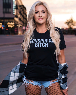 Kat Dunn – Conspiring Bitch –  Softest Black Basic Tee