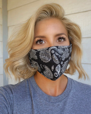 Black Bandana Mask