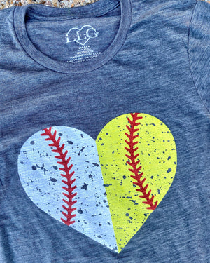 Baseball/Softball Heart Tee