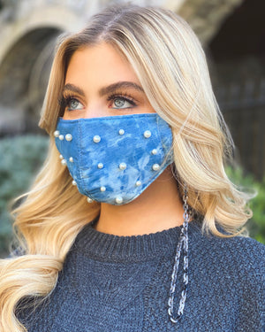 Chunky Gray Chain Mask Holder