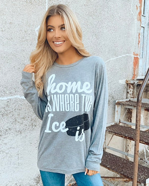 Home Is Where The Ice Is Comfy Long-Sleeve