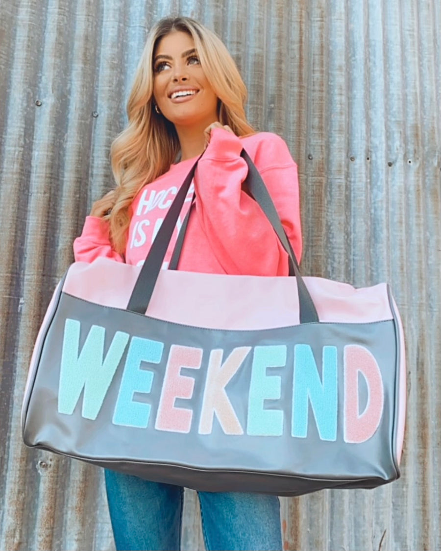 Weekend Duffle Tote Bag