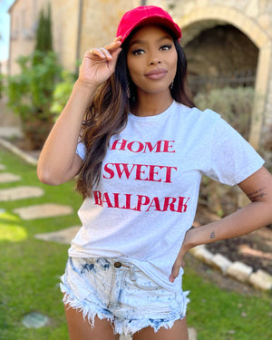 Home Sweet Ballpark Basic Tee