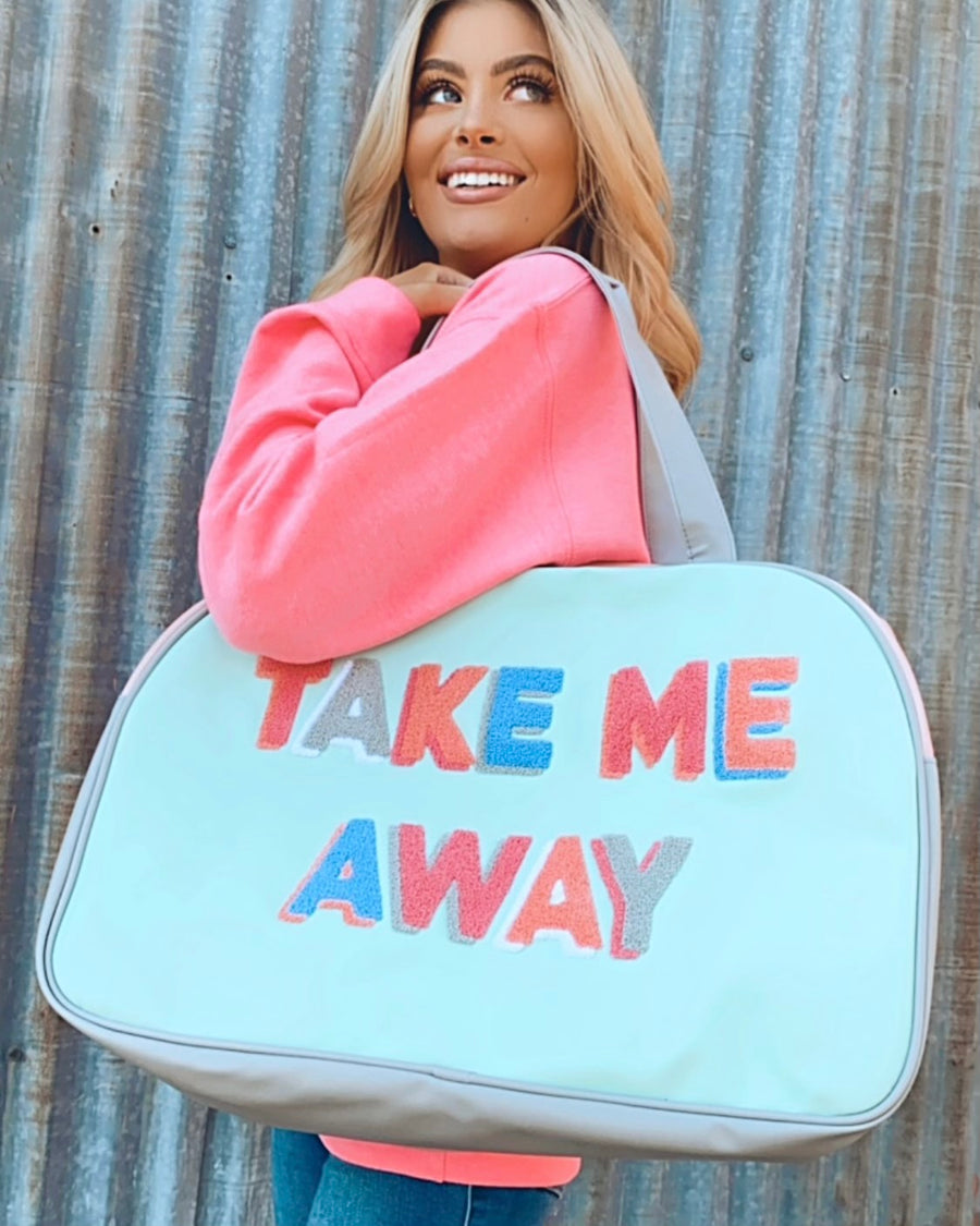 Take Me Away Duffle Tote Bag