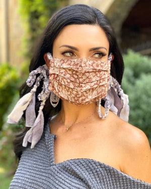 Mushroom Boho Braided Daily Fashion Face Cover