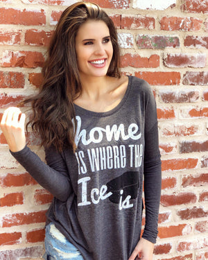 Home Is Where The Ice Is – Long-Sleeve Flowy Top