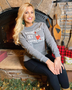 Kat Dunn – Grinches Get Stitches –  Cozy Fleece Sweatshirt