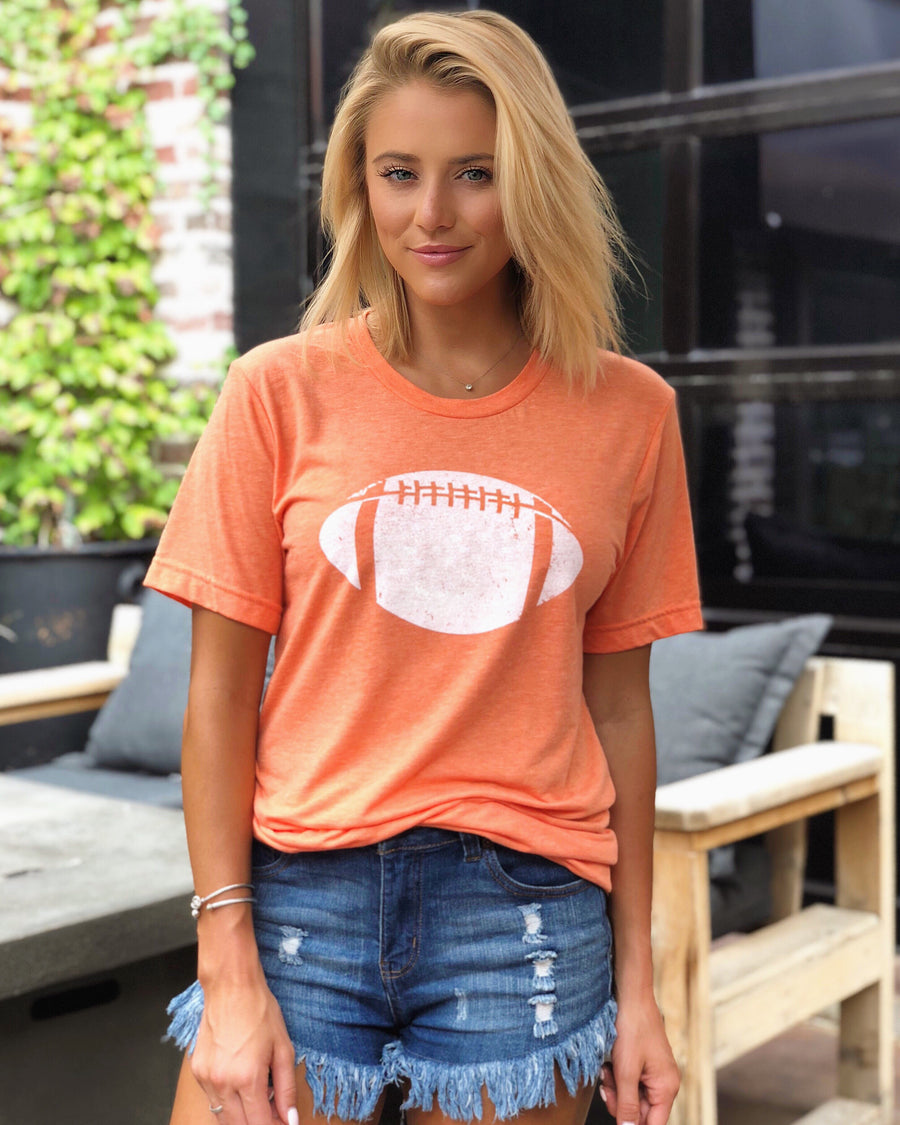 Football – The Football Tee – Orange/White